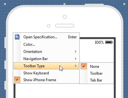 Show toolbar bar