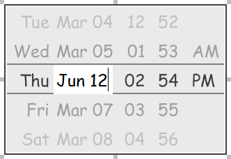 Editing the date in a date picker