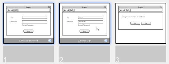 Select the wireframes to reorder