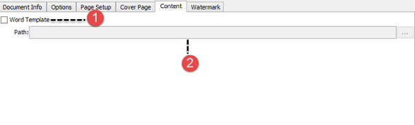 The overview of Content tab
