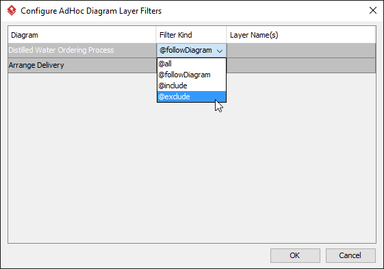Change to exclude some layers