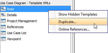 Duplicate a template