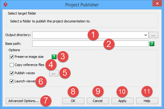 Overview of project publisher