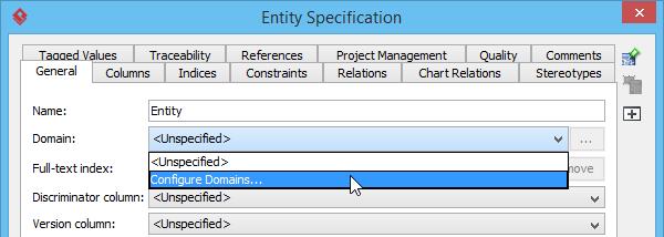 Configure domains