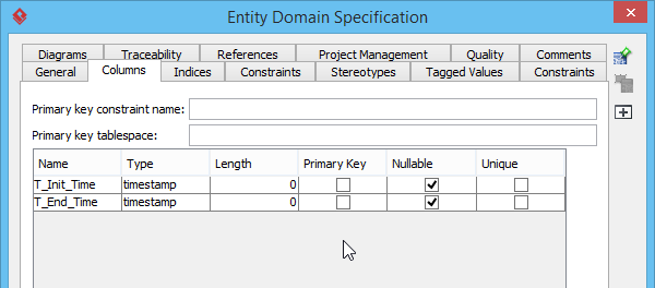 Specifying the properties of the domain