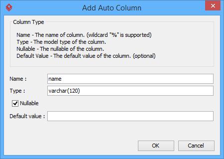 Defining an auto column