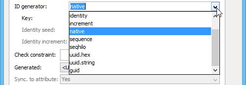 Selecting ID generator