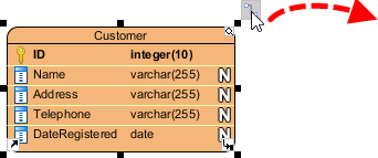 Split table using resource-centric interface