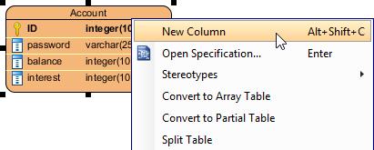 Create a column in entity