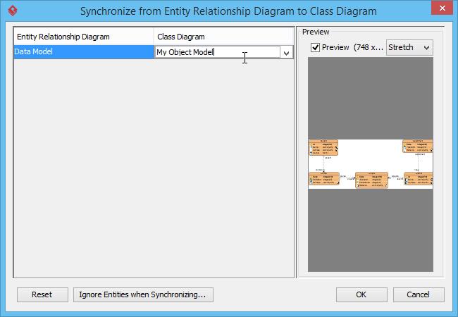 Naming target class diagram