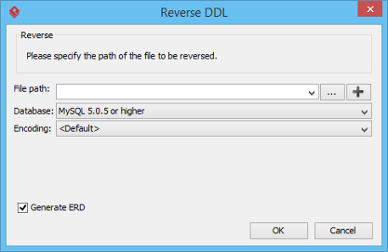 The Reverse DDL window