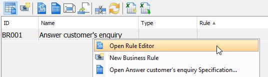 Open Rule Editor