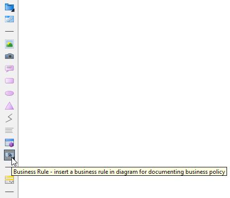 Selecting Business Rule in diagram toolbar