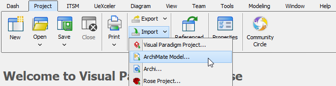 To import ArchiMate model