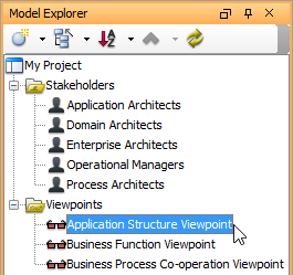 Browse an enterprise architecture from viewpoint