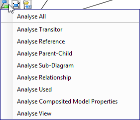 To select a type of relationship to analyze