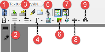 Editor's toolbar