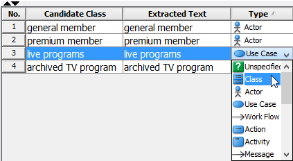 Select class as its type