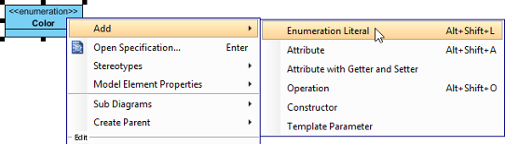 Add an enumeration literal