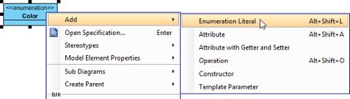 Add an enumeration literal