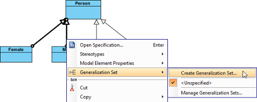 How to draw class diagram create a generalization set ccuart Gallery