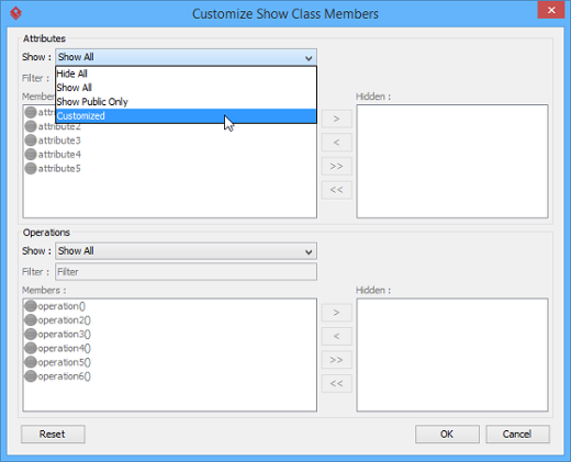 Select Customized in window