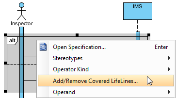 Add/Remove covered lifelines