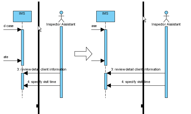 How to draw sequence diagram sweep towards right ccuart Gallery