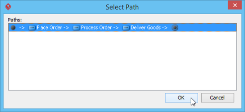 Select a path for generating scenario