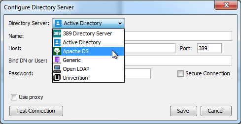 Selecting ApacheDS