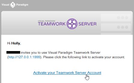 To activate Teamwork Server account