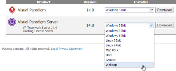 Download WebApp of VP Server
