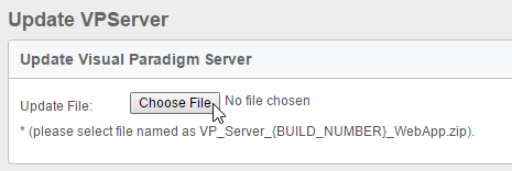 To select the WebApp package of VP Server