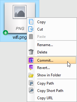 Commit teamwork files to server