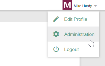 Open Administration page