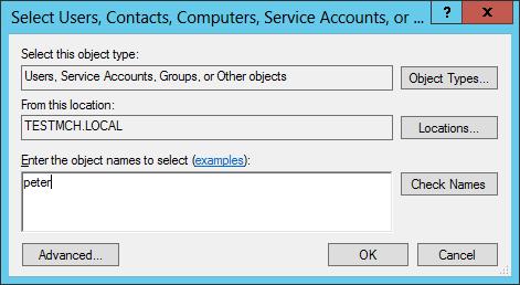Enter user's account name