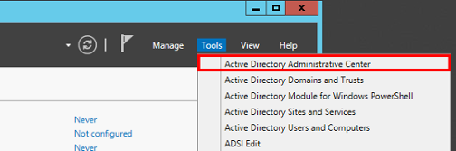 Open Active Directory Administrative Center