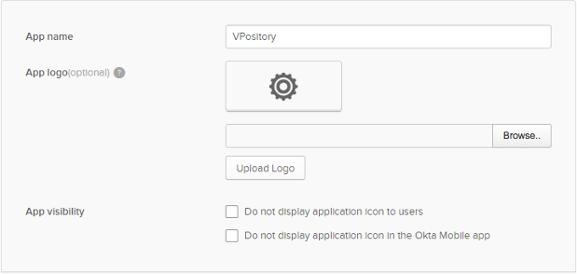 Entering application name
