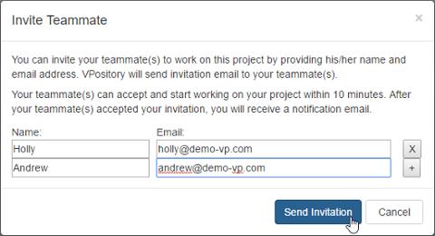 Send invitation