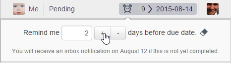 Editing the reminder