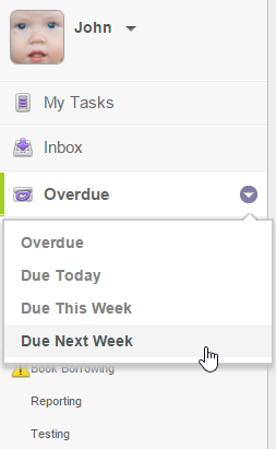 View tasks that will due next week