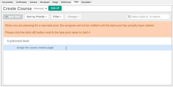 Task Pool created